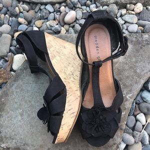 Madden Girl Kolasso Black Wedge Fabric Sandal